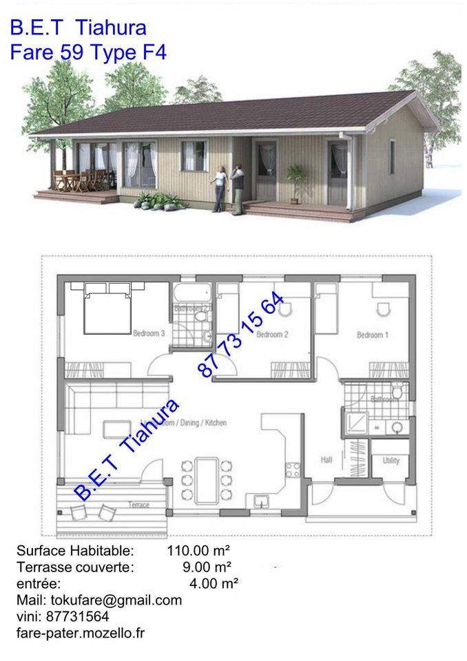 plan de maison oph tahiti